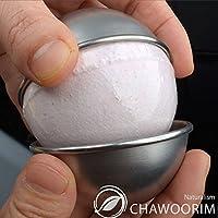nicebuty bola de baño bomba Moldes Bath Fizzies acero inoxidable moldes 2pieces per 1set d2.56inch/6,5cm