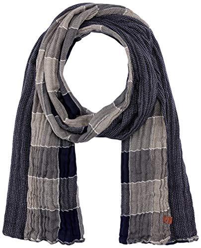 camel active Herren Schal 407260/8V26, Grau (Dark Grey 7), One Size (Herstellergröße: OS)