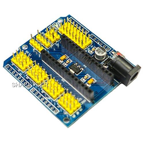 SHAHIDEER® Nano I/O Erweiterungs Sensor Shield Module Prototype Shield Extension Board für Arduino UNO R3 Nano V3.0 1pcs
