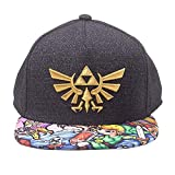Zelda Unisex Baseball Cap Nintendo Legend of Embroidered Gold Royal Crest Snapback with Woods Boys Brim, Schwarz, One Size