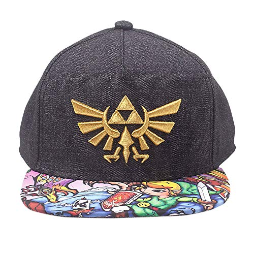 watch 70abd 58a53 Zelda Nintendo Legend of Embroidered Gold Royal Crest Snapback Baseball Cap  with Woods Boys Brim Gorra