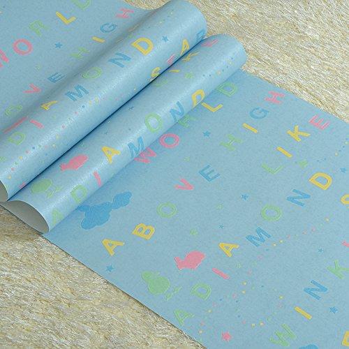 BBSLT Moderna camera ragazzi wallpaper cartoon lettere camera da letto den tessuto non sfondo , 4