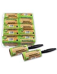 Lot de 20brosses adhésives Schramm® – 20 rouleaux de 60feuilles – Avec dérouleur en plastique noir Piègent la saleté, la poussière et les peluches