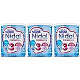 Nestlé Nidal Croissance 3 Lait infantile 3ème âge en poudre de 1 à 3 ans 800g - Lot de 3