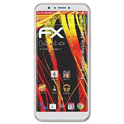 atFolix Schutzfolie kompatibel mit General-Mobile GM 8 Bildschirmschutzfolie, HD-Entspiegelung FX Folie (3X)