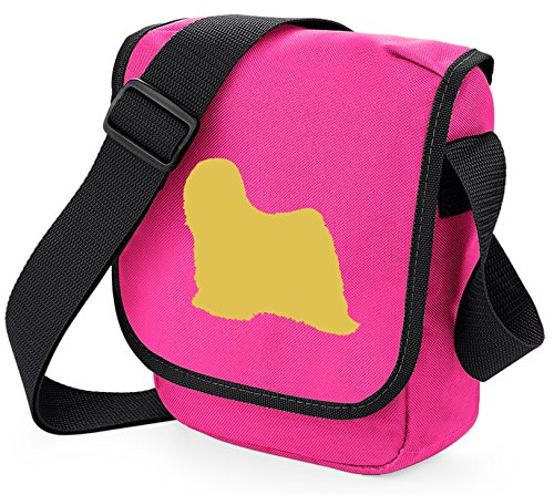 Bag Pixie - Borsa a tracolla unisex adulti Fawn Dog Pink Bag