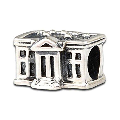 rika Weiße Haus 925Sterling Silber Charms Reise USA für Schlange Kette Armbänder Halloween by ()