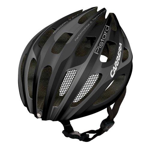 Carrera Fahrradhelm E00448 Pistard, mit Rückleuchte schwarz Matt Black/Silver 54 - 57 cm