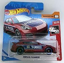 2019 Hot Wheels Porsche Panamera Red Police Polizei 10/10 HW Rescue 100/250 (Short Card)