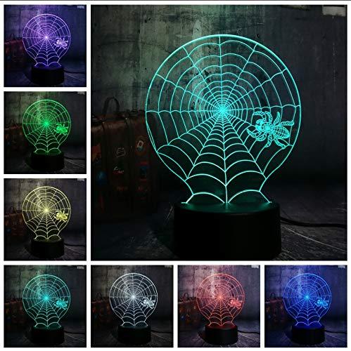 Scary Scene LED Nachtlicht Spinnennetz Spinnennetz Schreibtischlampe Horror Wohnkultur Kind Weihnachtsgeschenk ()