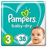 Pampers Baby-Dry, für Atmungsaktive Trockenheit, Gr.3, 38Windeln