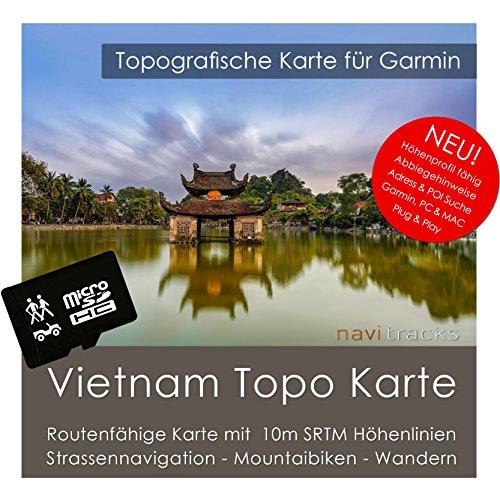 Vietnam Garmin Karte TOPO 4 GB microSD. Topografische GPS Freizeitkarte für Fahrrad Wandern Touren Trekking Geocaching & Outdoor. Navigationsgeräte, PC & MAC