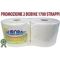 Coppia di bobine rotoloni di carta asciugamani