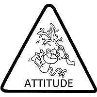 """Teacher Stamps BR027CM - Sello para profesores, diseño con mono y texto """"Attitude"""""""