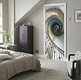TIANTAI Nachahmung 3D Tür Aufkleber Spirale Treppen Renovierung Von Holztüren Wohnzimmer Türen Wasserdicht Selbstklebend