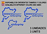 Ecoshirt FY-LX0N-R3H9 Adesivi Renault Sport Nürburgring F25 Aufkleber Decals Adesivi Rallye, Blu