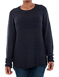 Vero Moda Pullover Women Long Sleeve Navy Blue 10192178 VMKAKI LS O-Neck Blouse Night Sky