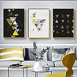 Peinture abstraite jaune de suspension de couleur de collision abstraite, décoration...