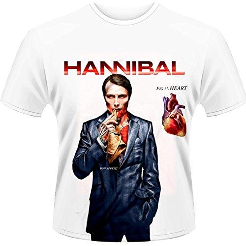 Plastic Head Hannibal Fig. 1 Heart-T-shirt  Uomo    White X-Large