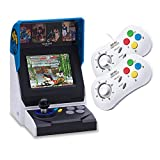 NEOGEO Mini Console: International Edition + 2 x NEOGEO Mini White Controllers (Includes 40 Games)