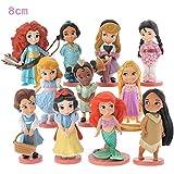 Princesas Disney - set 11- figuras-con bolsa de plastica- 8 cm