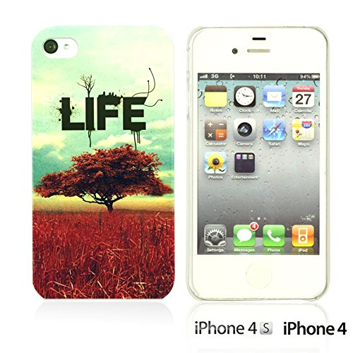 OBiDi - Typography Pattern Hard Back Case / Housse pour Apple iPhone 4S / Apple iPhone 4 - Life Is Life