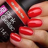 Pink Gellac 108 Lady in Red UV Nagellack. Professionelle Gel Nagellack shellac für mindestens 14 Tage perfekt glänzende Nägel