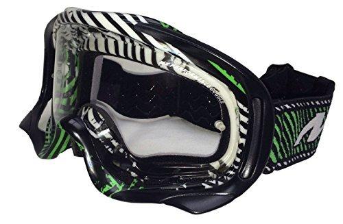 MT Motocross Schutzbrille MX Pro III Anti-Beschlag & Anti-Kratzer - Grün