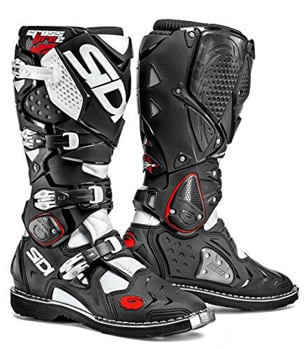 Sidi Crossfire 2 Stivali da Moto, Nero/Bianco, 45
