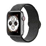 Tervoka Compatibile Cinturino per Apple Watch 44mm 42mm, Morbido Nylon Cinturini di Ricambio per iWacth Serie 4/3/2/1, DarkOlive