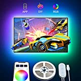 TV LED Backlight with APP Control, Govee 2M LED Strip Lights for TV 40-55in, RGB 5050 TV Lights Kit USB Powered, Adjustable Brightness and Bias Lighting Kit for TV, Computer, Monitor (4pcs x 50cm)