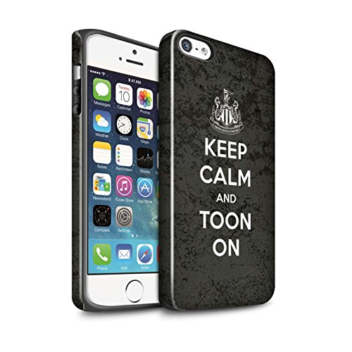 Offiziell Newcastle United FC Hülle / Glanz Harten Stoßfest Case für Apple iPhone SE / Pack 7pcs Muster / NUFC Keep Calm Kollektion Toon On