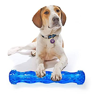 TPR Squeak Chew Toy for Aggressive Chewers Durable Rubber Tooth Cleaning Toy for Dogs Bite Resistant Floating & Suitable For Pool Use Dog chew toy Indestructible for Puppy big medium Small dogs