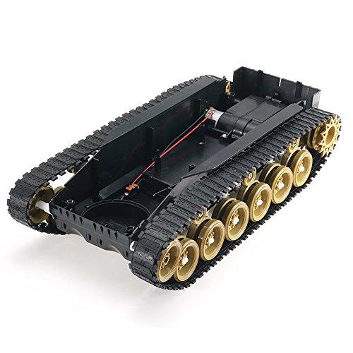 LaDicha 3V-9V DIY Shock absorbé Smart Robot Tank châssis kit Voiture Crawler avec Moteur 260 pour Arduino SCM