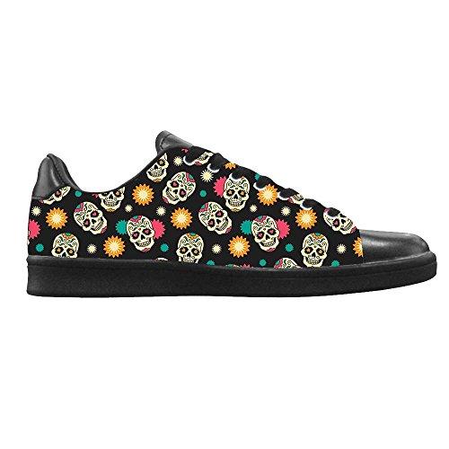 Dalliy Flower Sugar skull Men's Canvas shoes Schuhe Lace-up High-top Sneakers Segeltuchschuhe Leinwand-Schuh-Turnschuhe C