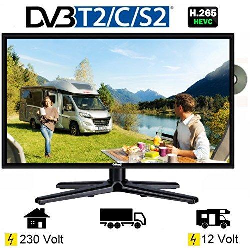 Gelhard GTV-1962 LED Fernseher 19 Zoll TV DVD DVB-S/S2/T/T2/C 230/12 Volt