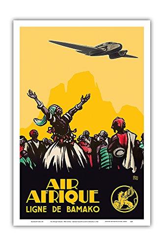 Pacifica Island Art Afrika Air Fluggesellschaft - Westafrika - Bamako Fluggesellschaft - Vintage Retro Fluggesellschaft Reise Plakat Poster c.1925 - Kunstdruck - 31cm x 46cm