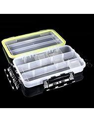 Bazaar Resistente al agua clara gran señuelo plástico anzuelo caja de aparejos caso titular