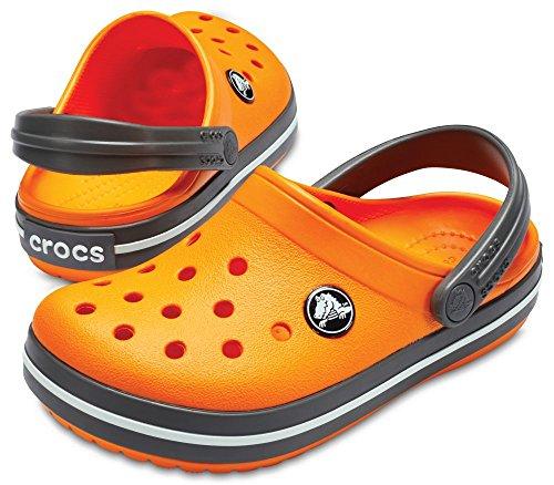crocs Kinder Sandale Crocband Clog K 204537 Blazing Orange/Slate Grey 29-30