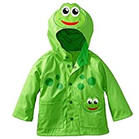 Baby Raincoat Snowsuit Kids Waterproof Windproof Cartoon Frog Outwear for Boys and Girls from 2-6 Years By Shiningup