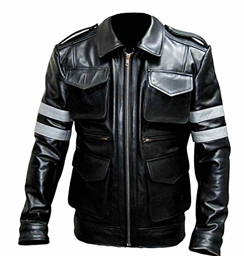 classyak da uomo in vera pelle moto giacca Sheep Black L Chest 56