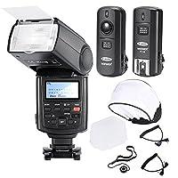 Descriptions :    Neewer E-TTL auto-focus flash synchro à haute vitesse    Compatible avec E-TTL Canon Flash automatiquement.    Il dispose d'un large diffuseur d'angle et un panneau de réflexion intégré.    Elle dispose d'un capteur de déclenchem...