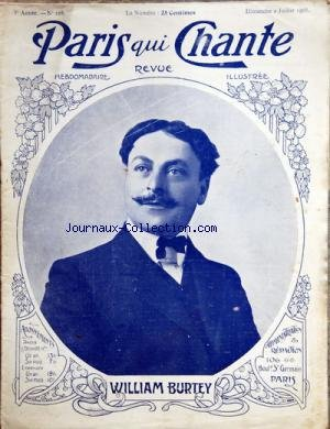 PARIS QUI CHANTE [No 128] du 02/07/1905 - WILLIAM