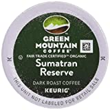 Green Mountain Coffee Roasters Feria Orgánica de Sumatra Reserva, K-Cup bolsita Individual de Keurig cerveceros 24-Count