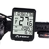 Wisdomx Ordenador de Bicicleta de 2,1in, Velocímetro de Bicicleta con Cronómetro/Velocidad Promedio/Tiempo de Viaje/Odómetro de Grabación de Distancia, Computadora de Bicicleta con Luz de Fondo LED