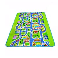 Kids City Scene Play Mat Traffic Highway Map Educational Toy Road Buildings Parking Map Pad Game Scene Playmat City Life Playing Cars Toys Traffic Playmat