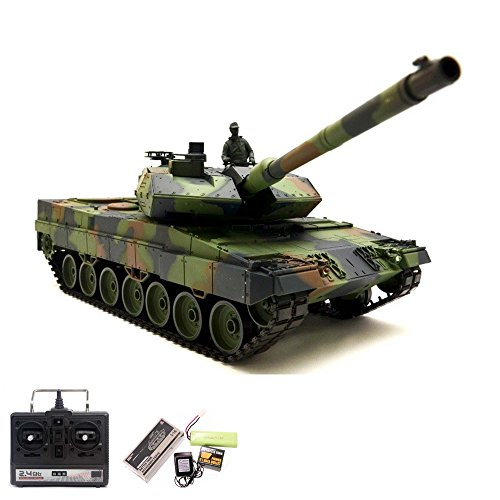 German Leopard 2A6 RC ferngesteuerter 1/16 Panzer Upgrade Edition mit 2.4GHz Technik,...