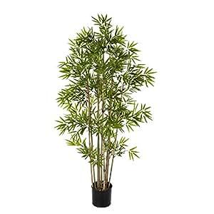 Plante artificielle bambou japonais verte altitude 110cm for Amazon plante artificielle
