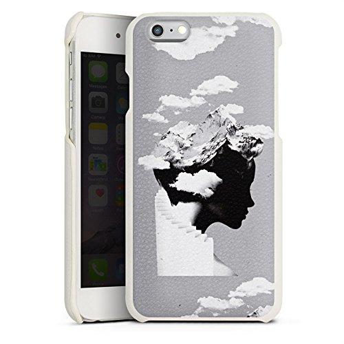 Apple iPhone X Silikon Hülle Case Schutzhülle Silhouette Kopf Wolken Leder Case weiß