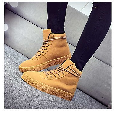Ch & Tou Botines Para Mujer-casual-cómodo-plano-pu (poliuretano) -negro / Amarillo Amarillo